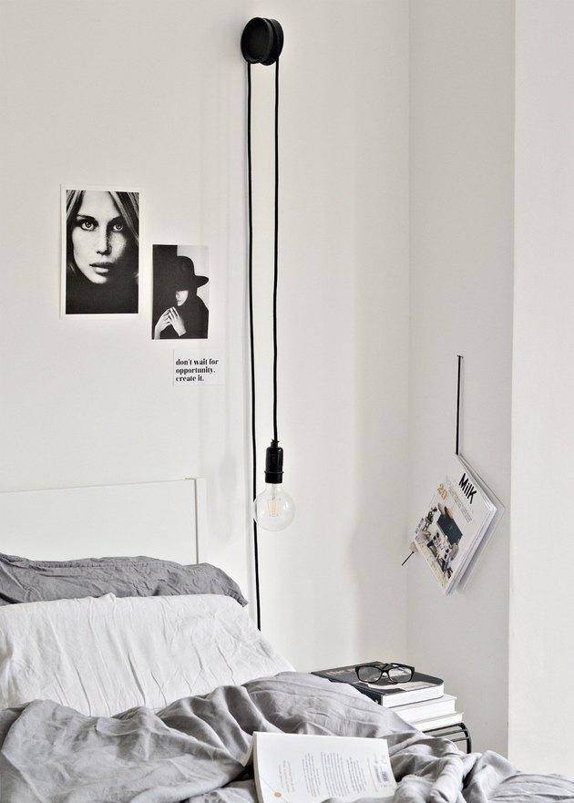 DIY Ikea Coaster wall lamp hack