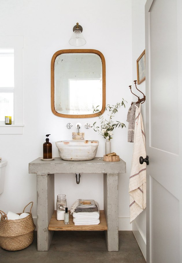 Bathroom with vintage materials