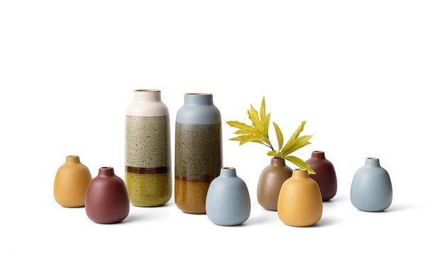 bud vases that are decorative accents by Heath Ceramics