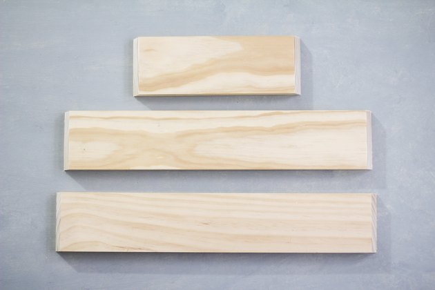 30-degree mitered angles cut on boards