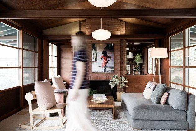 warm wooden interior midcentury modern house