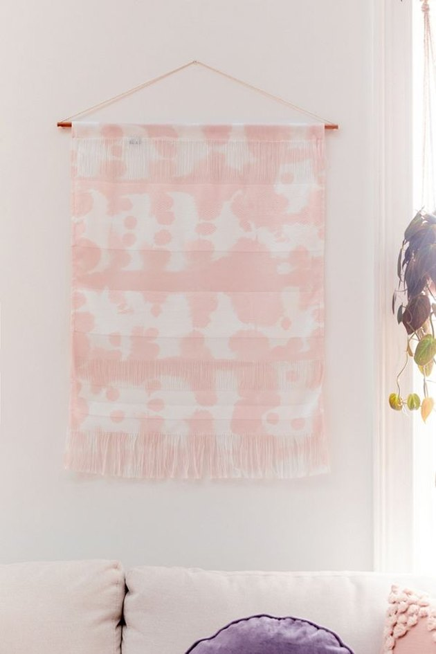 tie dye textile wall hanging