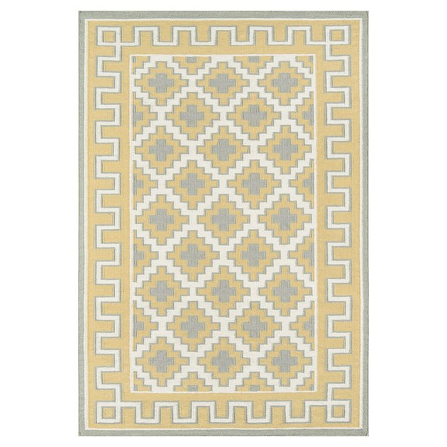 Erin Gates by Momeni Thompson Brookline Gold Hand Woven Wool Area Rug 2' X 3', $28.79
