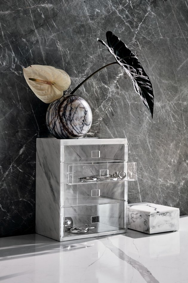 marble jewelry storage tower