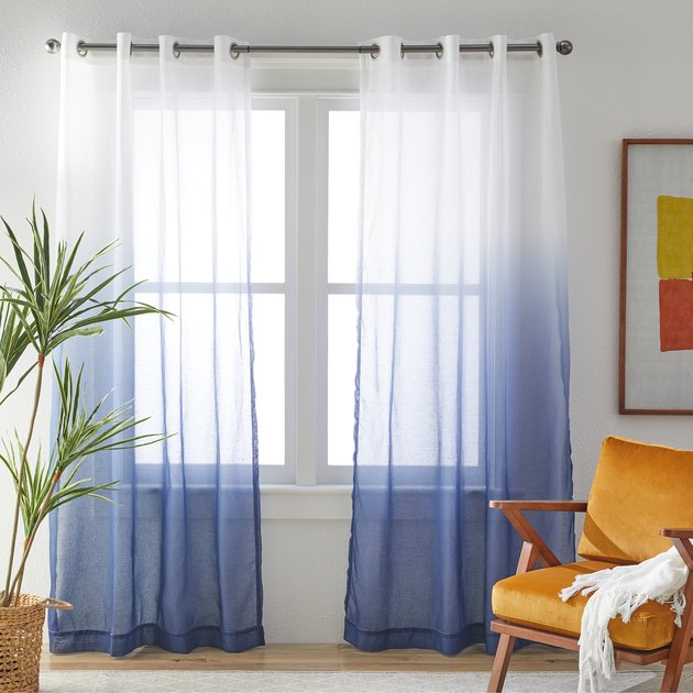 MoDRN Mid-Century Ombre Print Curtain Panel Pair, $21.99
