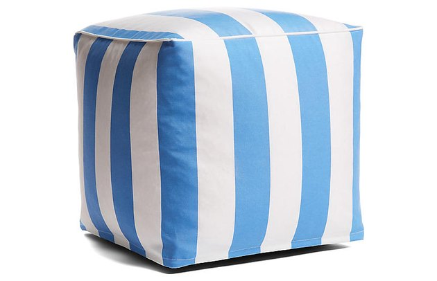 One Kings Lane Cabana Stripe Pouf, $70