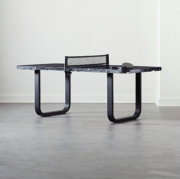 black marble ping pong table
