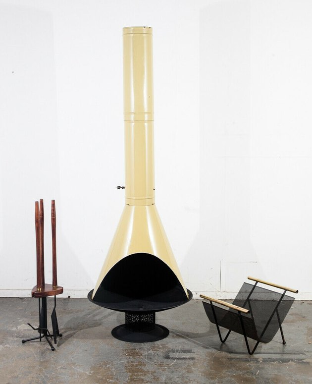 Vintage midcentury fireplace