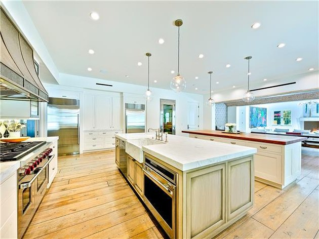 kitchen space with two islands