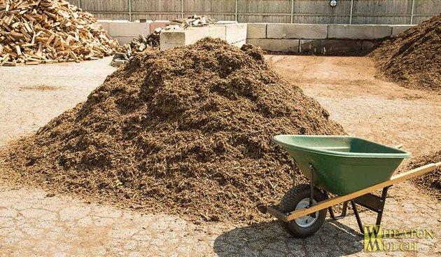 Pile of mulch.
