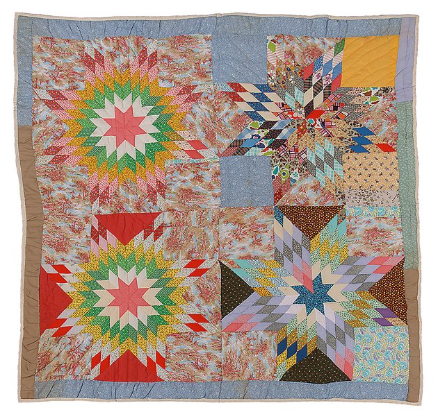quilt in Gee's Bend style in various colors