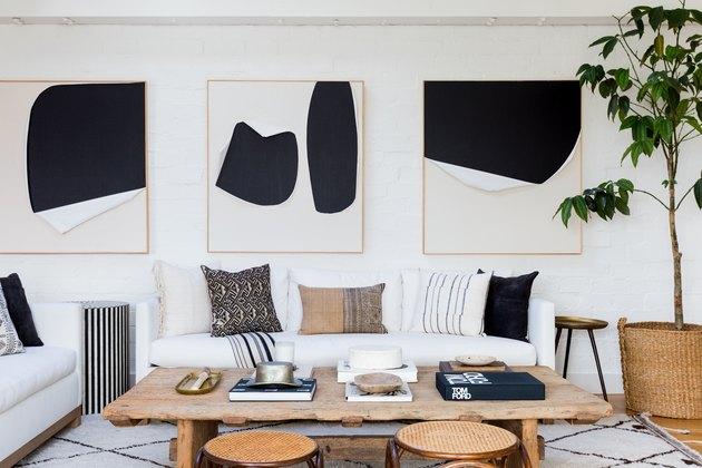 IKEA decor in living room