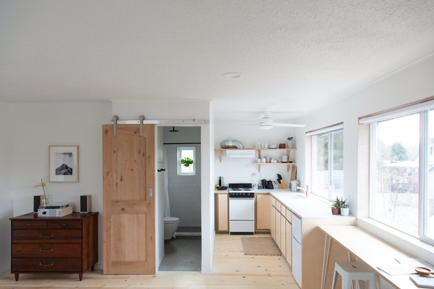 Love of Scandinavian design and simplicity in a Portland guest studio.