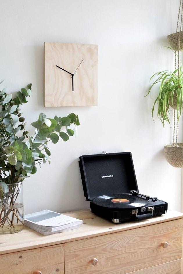 Plywood clock - DIY