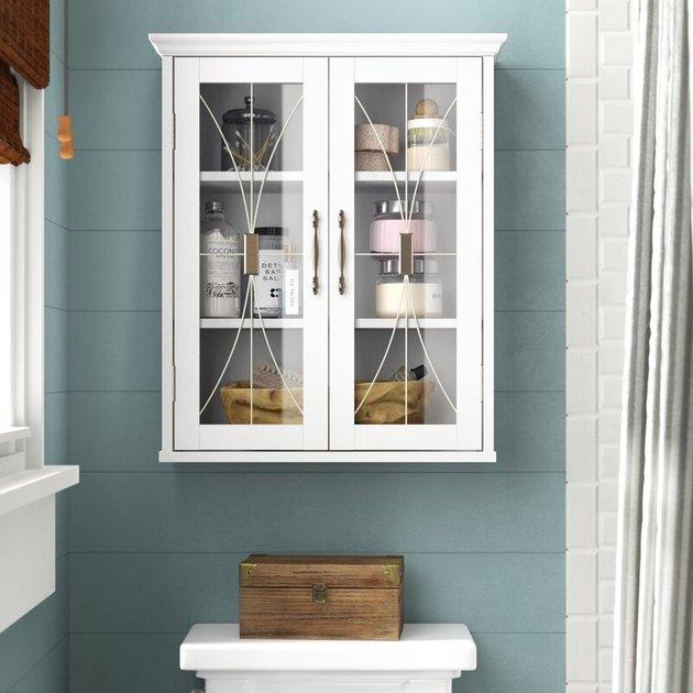 art deco wall mounted bathroom cabinet
