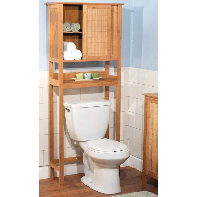 bamboo over the toilet bathroom cabinet