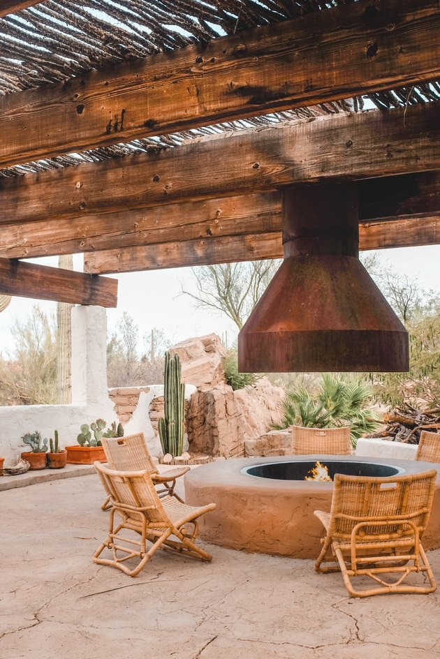 Posada by Joshua Tree House outdoor fire pit