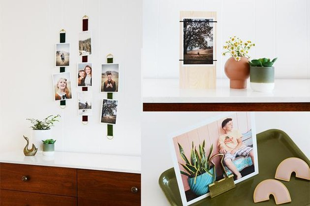 Different ways to display photos without frames