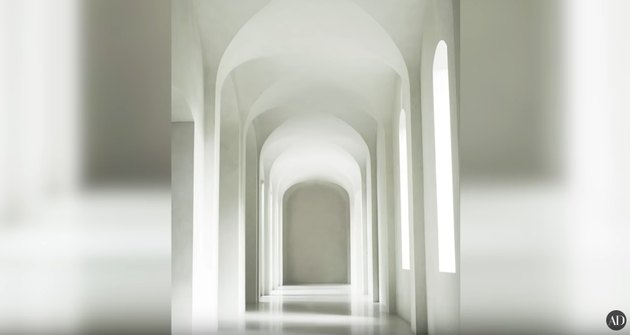 all white hallway