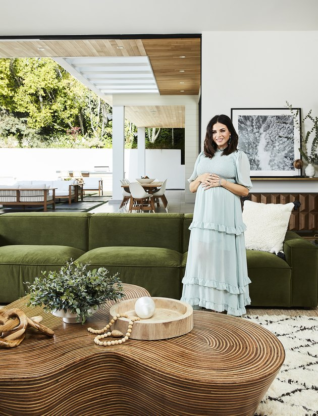 Jenna Dewan in modern living room
