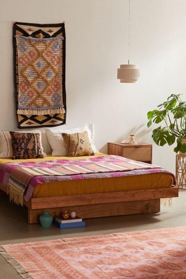 bohemian wood bed
