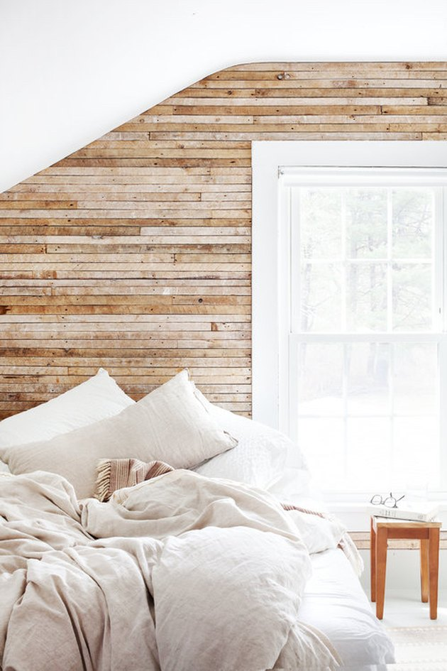 rustic bedroom inspired by Scandi minimalism