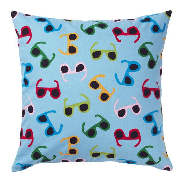 pillow with sunglasses pattern