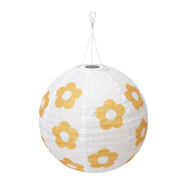 round paper lantern with flowers