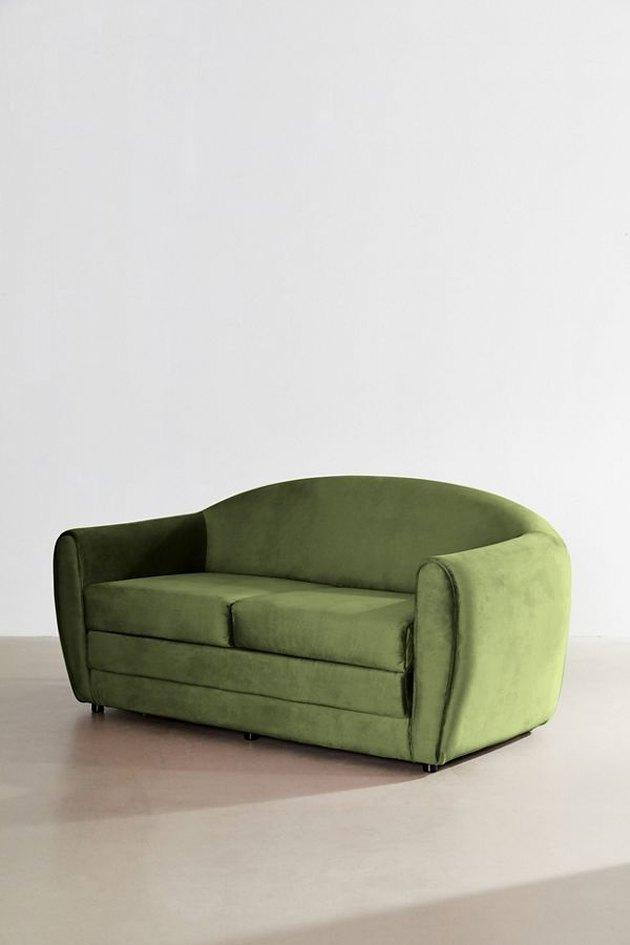 urban outfitters gemma velvet convertible sofa
