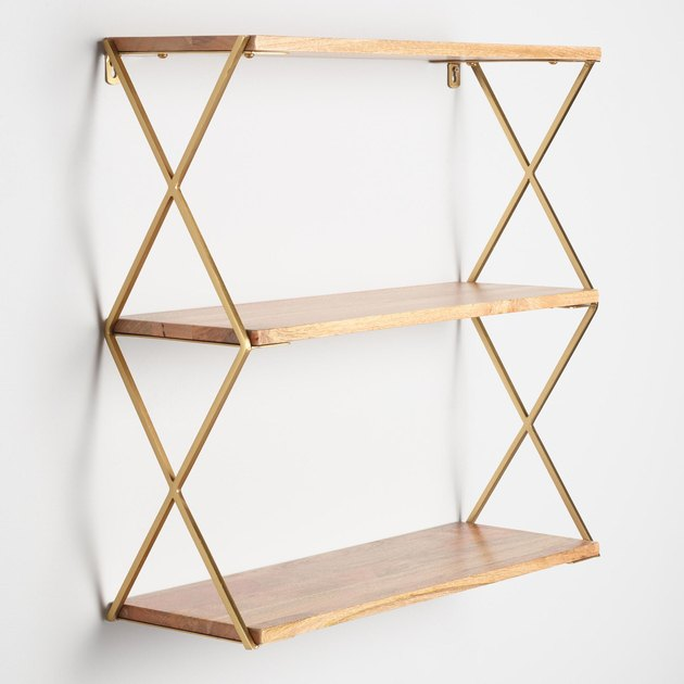 World Market Gold Tier Wall Shelf