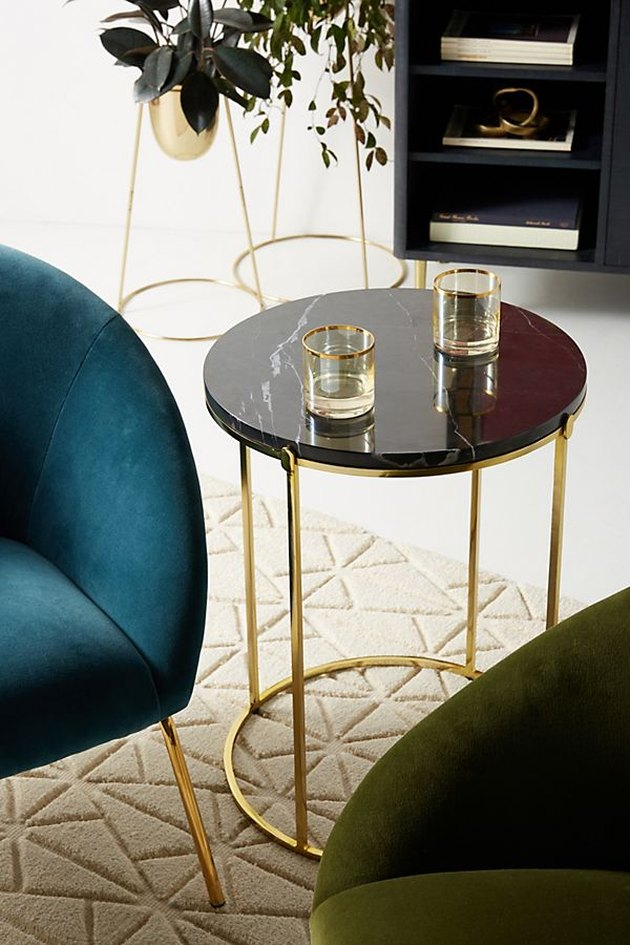 anthropologie marble side table