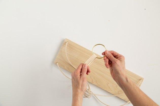 DIY Hanging Wood Shelf