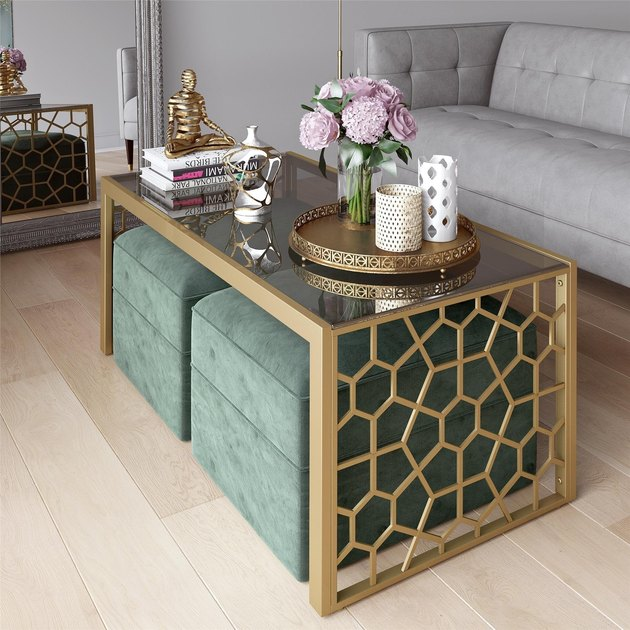 wayfair juliette glass coffee table