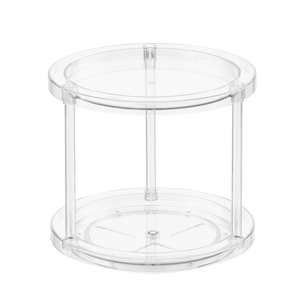 The Container Store 2-tier clear lazy susan