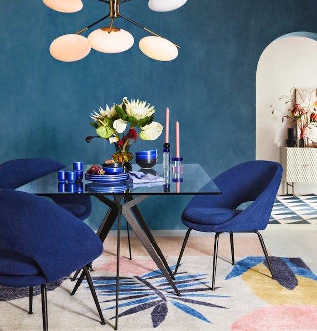 orb indigo velvet dining chairs