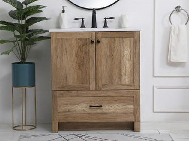country bathroom vanity from Overstock