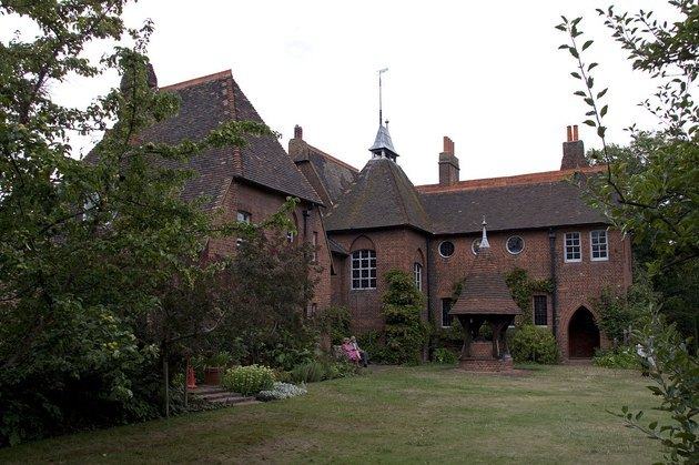 photograph of the Red House by Philip Webb and William Morris