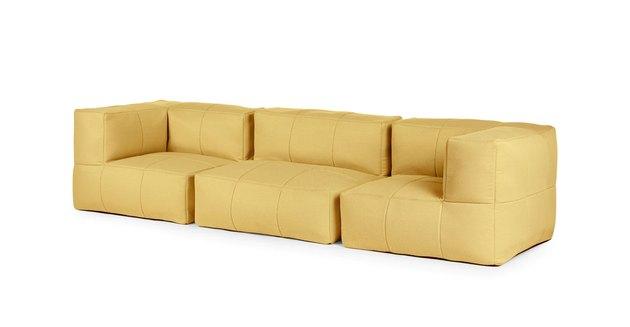yellow modular sofa