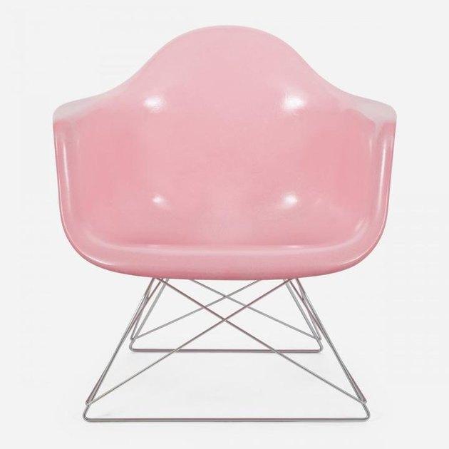 pink fiberglass chair