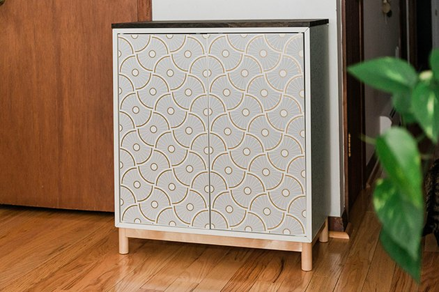 IKEA Eket cabinet with removable wallpaper