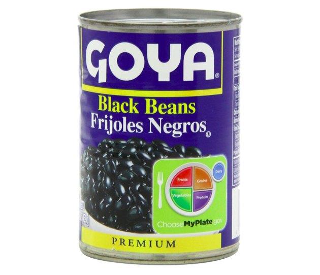 Goya Black Beans (pack of 6), $12.99
