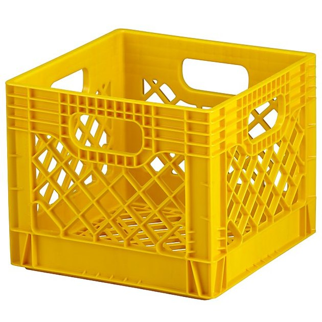 Crate and Barrel Yellow Milk Crate, $10