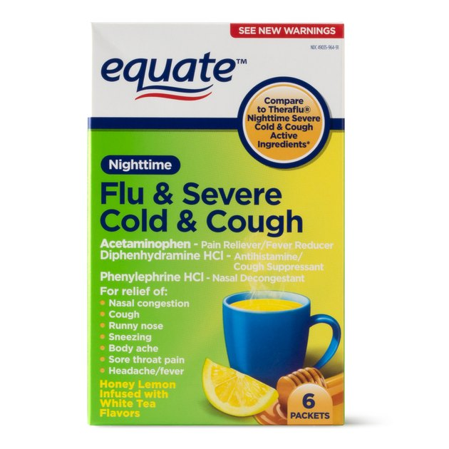Equate Flu & Severe Cold & Cough, $3.74