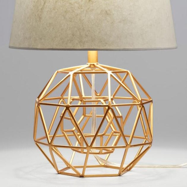 sculptural gold lamp base