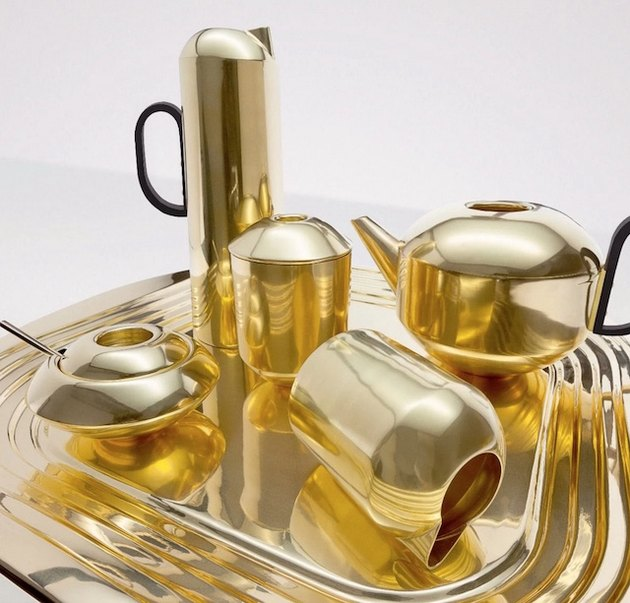 gold dishes & tea set