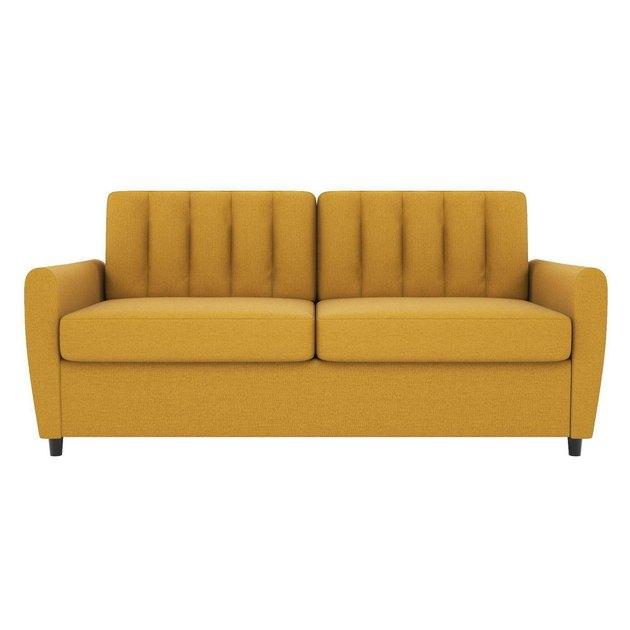 mustard tufted sleeper sofa