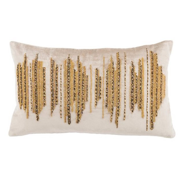 gold beaded pillow