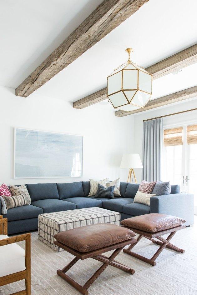 farmhouse living room curtain idea