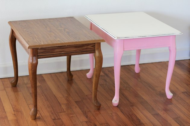 Before two end tables were painted with chalk paint