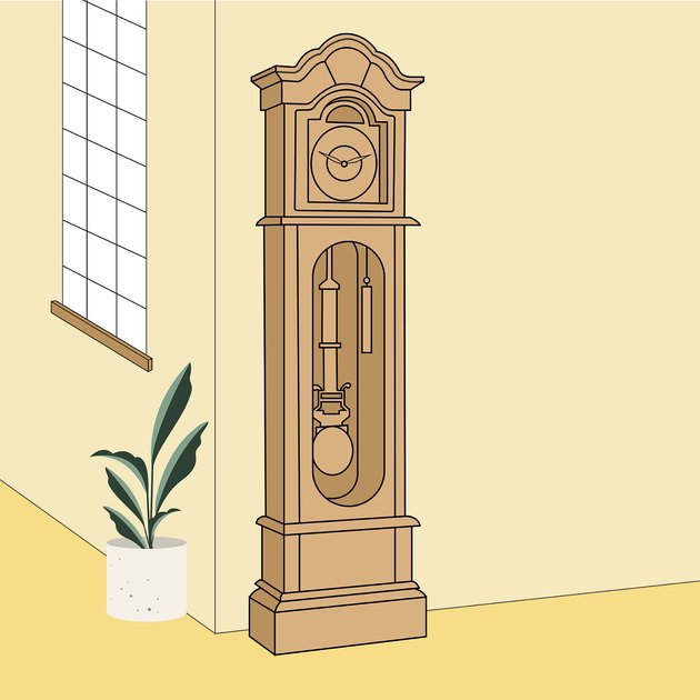 grandfather clock illustration